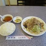 盛華園 - 料理写真:肉野菜炒めとライス