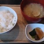酢重DINING - ご飯セットのご飯(白米)が、、、。