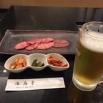 53904605 - 冷麺セットB 1200円と税です。ビールは別
