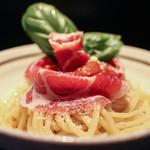 麺の坊 晴天 - 生ハムとトマトのチーズ冷麺☆