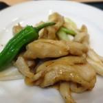 點心茶室 - ブランチセットの鶏肉のオイスターソース炒め