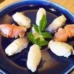 亀喜寿司 - 貝にぎり