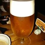 やんばるダイニング 松の古民家 - オリオンビールの泡のきめ細やかさ!