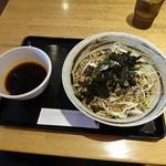マツノ屋 - ラー油蕎麦(750円ん)2016年7月