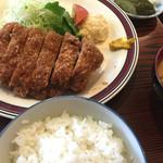 とんかつ宮島 - 厚揚げヒレカツ定食 1,700円