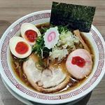 三麺流 武者麺 - 【中華そば(あっさり) + 味玉】¥700 + ¥100