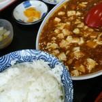 龍華苑 - 料理写真:日替りランチで食べた麻婆豆腐定食です。