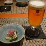 魚菜 基 - ビールと酢の物? 2016年6月:7,000円のコース