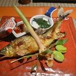 魚菜 基 - 鮎 2016年6月:7,000円のコース