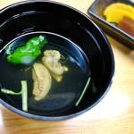 橋本屋 - 肝吸い・香の物