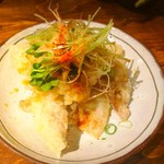 かがやくいろ - 豚の天プラ香味野菜ぶっかけおろしポン酢