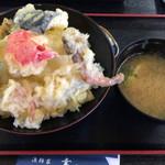 漁師家 幸 - 特製天丼1240円