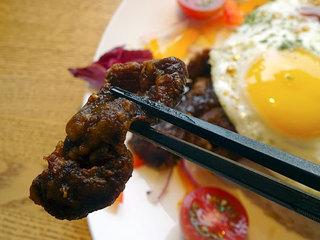 山恵 - エゾ鹿肉の唐揚げ丼ジンギスカン風味1080円税込