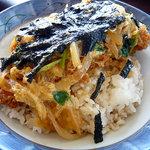 レストランオリビエ - 赤鶏カツ丼 800円