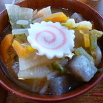 53945106 - お味噌汁にも野菜たっぷり