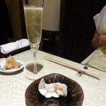 Sushihijikata - 太刀魚 の焼き物 と、シャンパン。