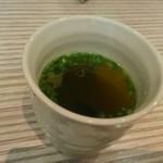 石水亭 - セットのスープ