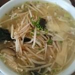 53946244 - B定食のワンタン麺(モヤシXO醤炒め添え)