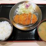 松のや - ロースかつ定食(豚汁)¥580