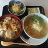 よね吉 - 料理写真:炭火焼親子丼&鳥塩しょうがラーメン膳