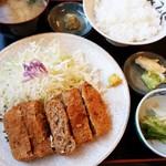 柳ばし - メンチかつ定食 870円 2016/07
