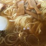 大勝軒 - 煮干しスープ