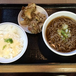 53949126 - 舞茸天ぷらのお蕎麦セット トロロごはん付 800円