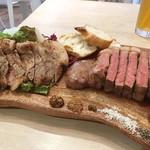 Nick -  eat-in可能なお肉屋さん。調理費用は購入額の30%だ。牛と豚のコンビネーションで。