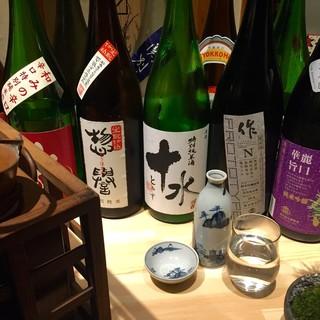 日本酒好きにはたまらない!?常時15種以上の日本酒をご用意☆