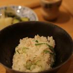 いしづか - ○ 鯛のカマの炊き込みご飯
