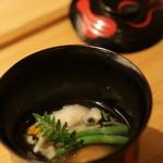 いしづか - ◎ すずきのウニ巻とシイタケのお椀