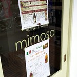 ミモザ - 入口に貼られた貼紙