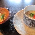 まんま亭 楽 - 茶碗蒸しとおぼろ豆腐