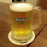 クミン ソウル - 生ビールはハイネケン。