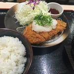 松のや - おろしロース定食(並)