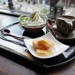 伊豆の華 - 蕎麦白玉クリームぜんざい