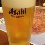 中華飯店 天津餃子房 - 生ビール