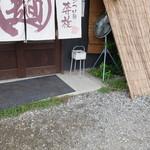 奔放 - 店外の喫煙スペース