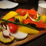 53965869 - 蒸し海老と様々な旬野菜・銀座収穫祭 アイオリ