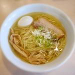 麺堂稲葉Kuki Style - らーめん(塩)¥680 +とろとろ味たまご¥100