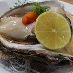 酒菜やまざき - 生牡蠣、かぼすと共に