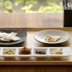 祇園NITI - 生おかき+涼炉 5種ディップ添え