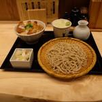 ソバキチ - ロースカツ丼セット(税込み972円)