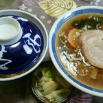 花園食堂 - 2016年3月 カツ丼ラーメンセット(税込み900円)