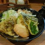 さぬき 粉太製麺 - 野菜天ぶっかけうどん