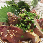 yakitorirobatayakigenki - 博多の居酒屋の定番メニューと言えば、ゴマサバ!