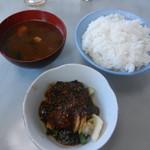 53979281 - ご飯&味噌汁におかずを一品付けたオリジナル定食完成♪