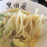 黒田屋 原店 - 麺も自社製麺でしょうか。                             柔らかいですが、もちもちとしています。