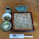 秋保草庵 - もり蕎麦(二八)780円