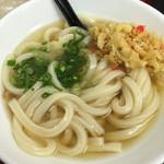 極楽うどん TKU - 薬味と天かすでまた味が引き締まる!d(^_^o)